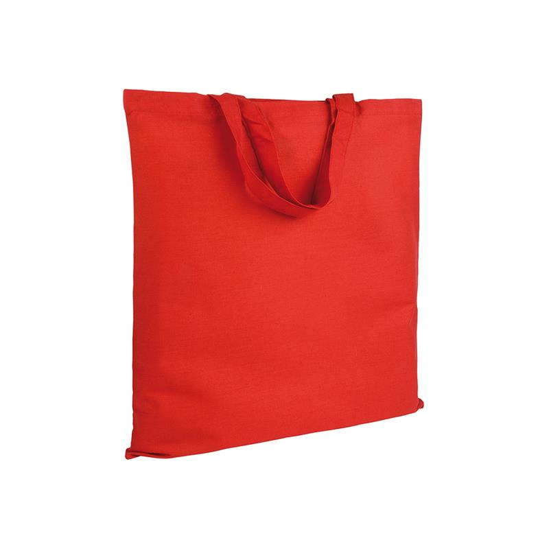 shopper in cotone rosso senza soffietti manici corti
