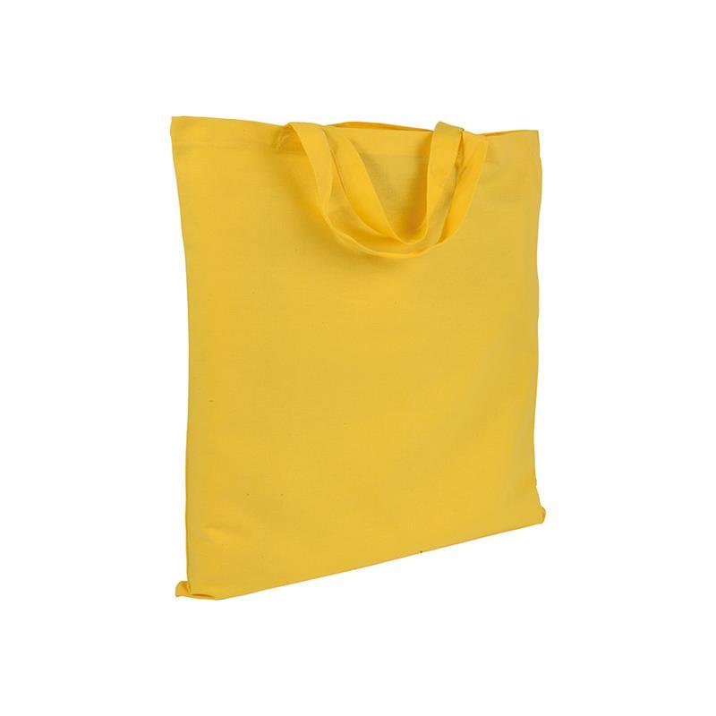 shopper in cotone giallo senza soffietti manici corti