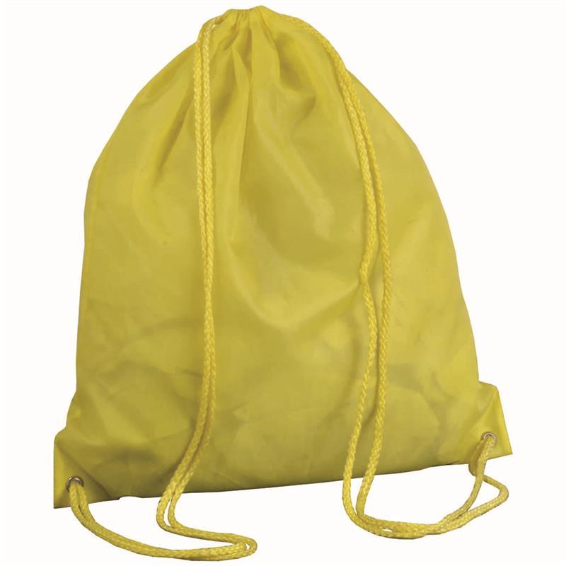sacca in poliestere giallo con lacci gialli