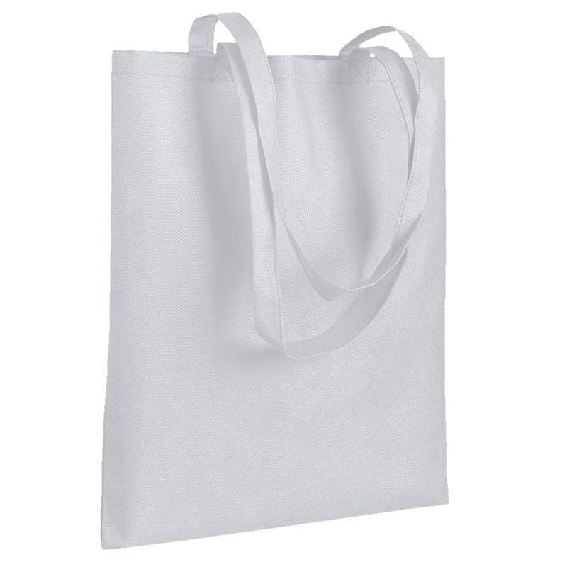 shopper in tnt bianco senza soffietti manici tnt
