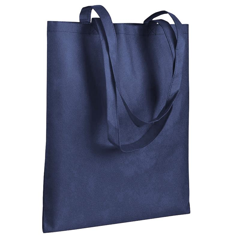 shopper in tnt blu navy senza soffietti manici tnt