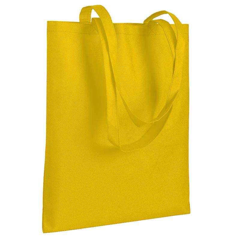shopper in tnt giallo senza soffietti manici tnt