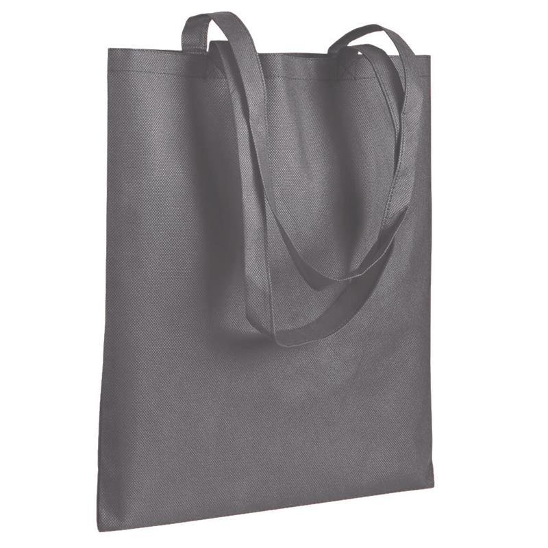 shopper in tnt grigio senza soffietti manici tnt
