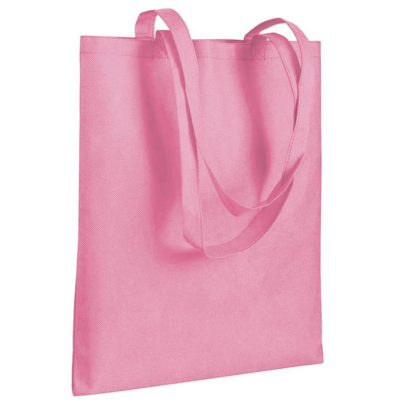 shopper in tnt rosa senza soffietti manici tnt
