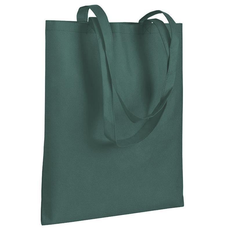 shopper in tnt verde militare senza soffietti manici tnt