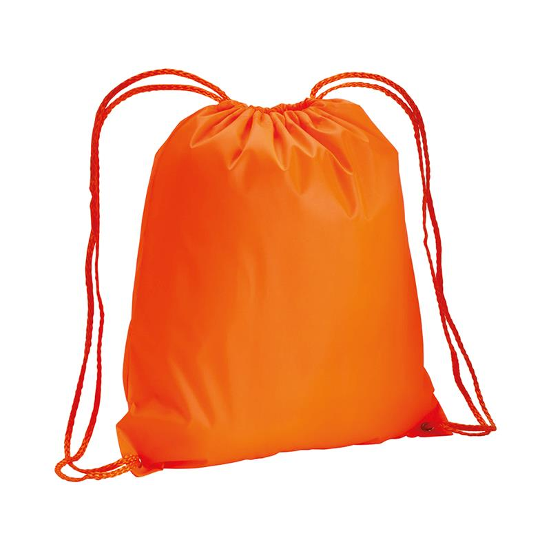 sacca in tnt arancio con lacci in polipropilene