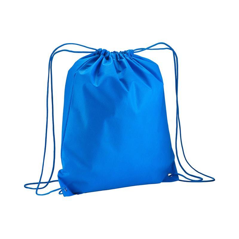 sacca in tnt blu royal con lacci in polipropilene