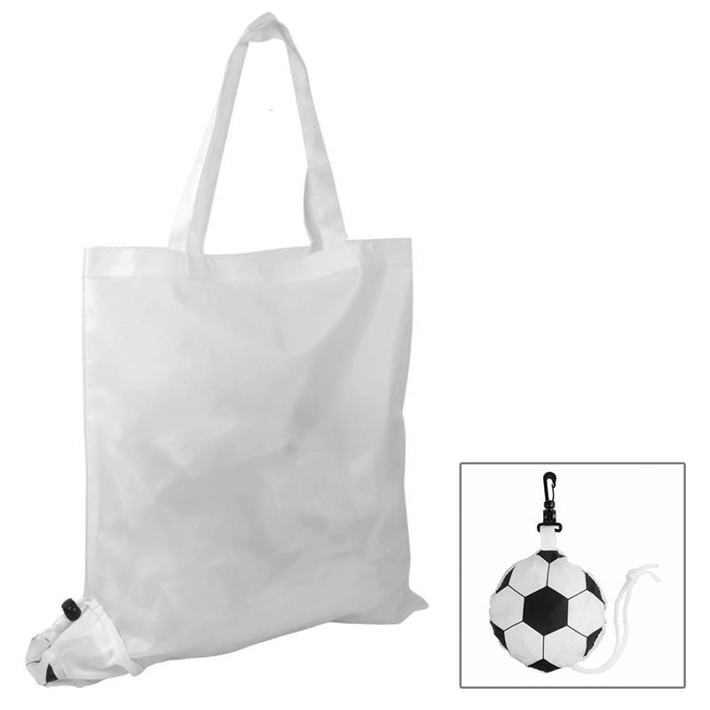 shopper poliestere bianco ripiegabile a forma di pallone
