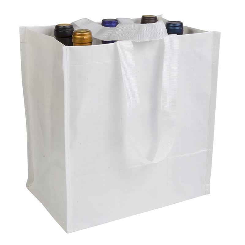 shopper porta bottiglia in pp laminato bianco