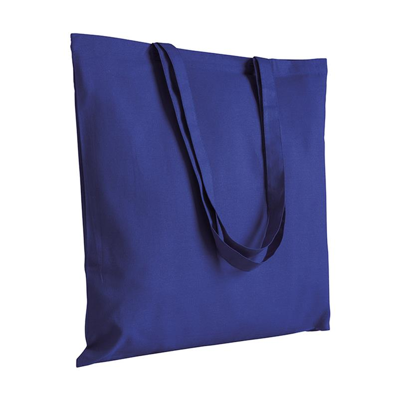 shopper in cotone viola senza soffietti manici cotone