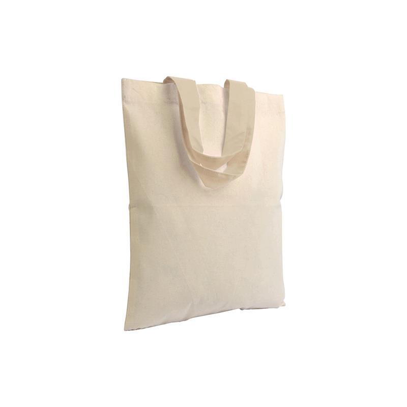 shopper in cotone naturale senza soffietti manici cotone naturale