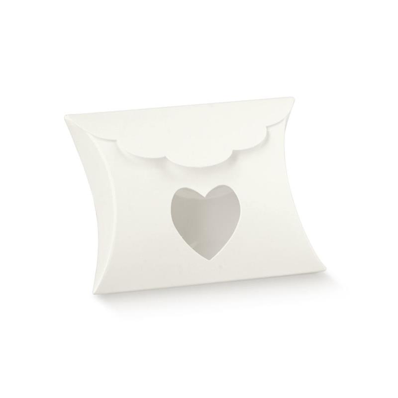 portaconfetti modello busta con finestra cuore