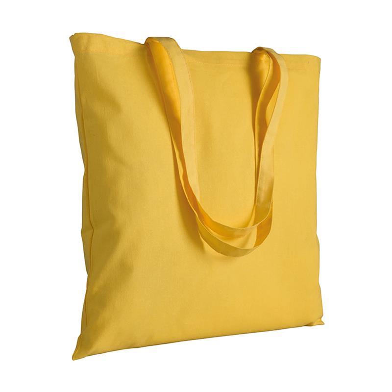 shopper in cotone giallo senza soffietti manici cotone