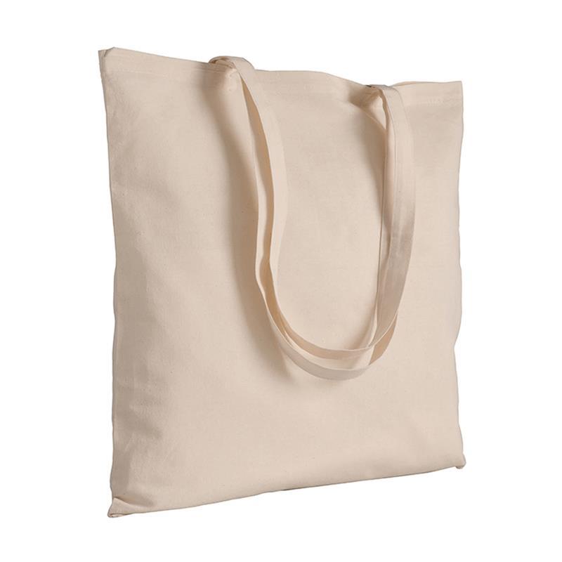 shopper in cotone naturale senza soffietti manici cotone