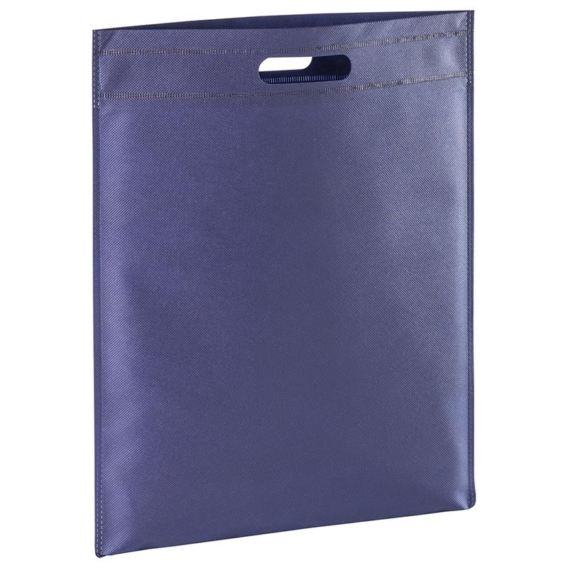 shopper in tnt blu navy con manico fagiolo