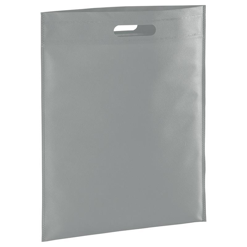 shopper in tnt grigio con manico fagiolo