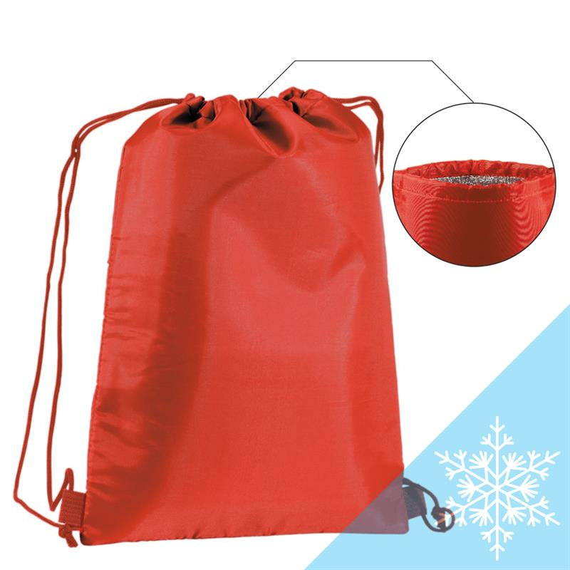 sacca termica in poliestere rosso