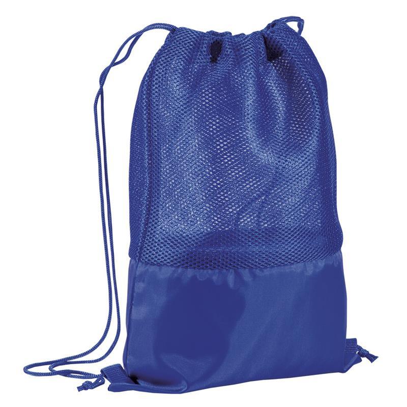 sacca in poliestere blu navy con retina mesh