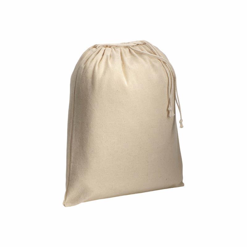 sacchetto in cotone naturale con chiusura a strozzo