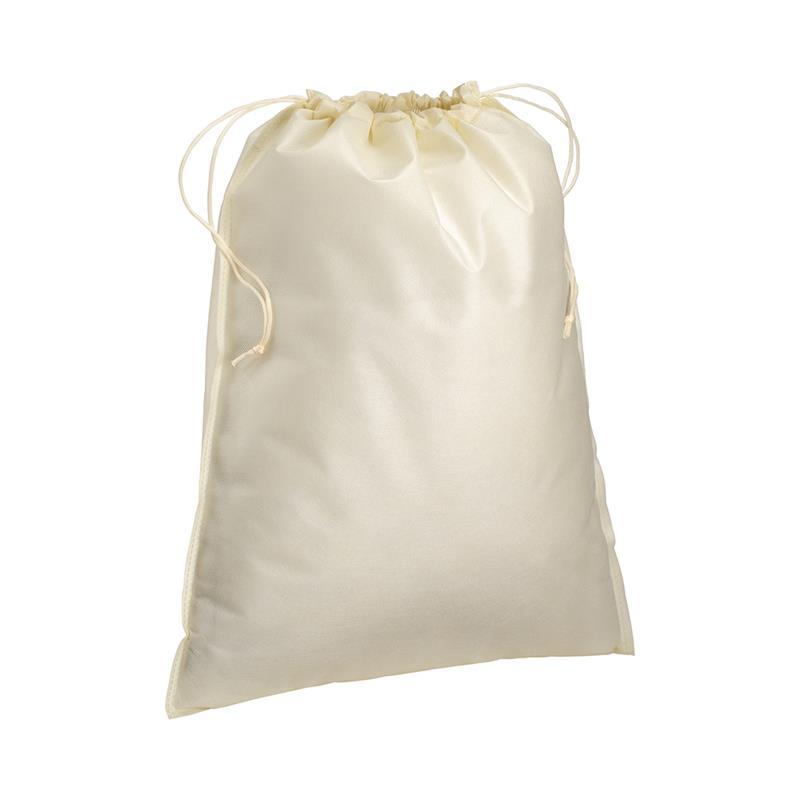 sacchetto in tnt beige con chiusura a strozzo