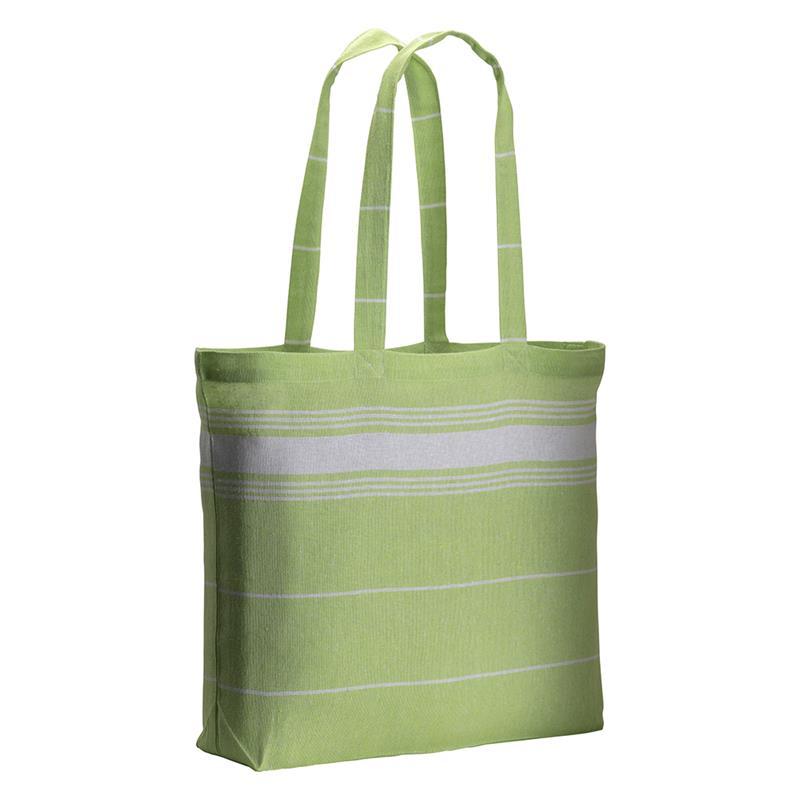 shopper fouta in cotone verde mela con manici lunghi