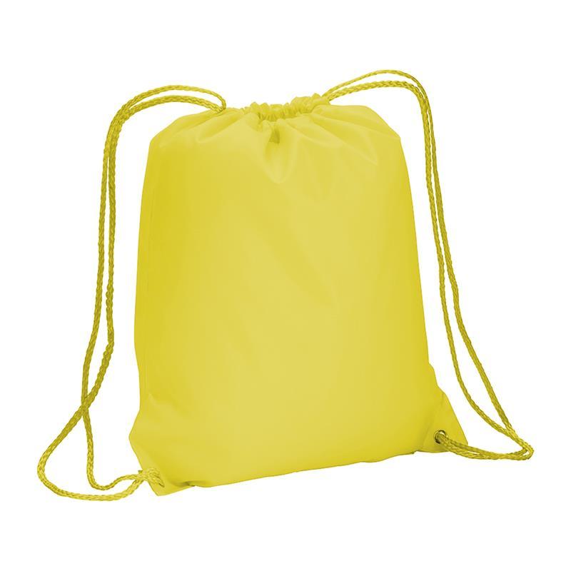 sacca in poliestere giallo big-size con lacci gialli