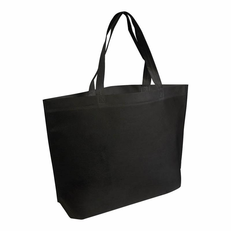shopper in tnt nero termosaldato con soffietto alla base