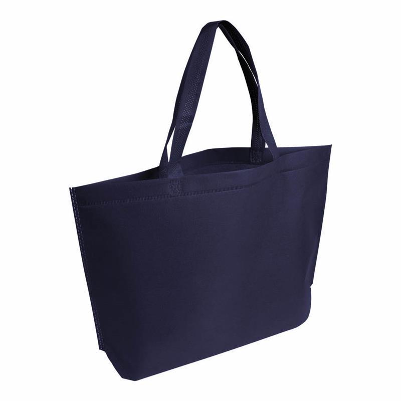 shopper in tnt blu navy termosaldato con soffietto alla base