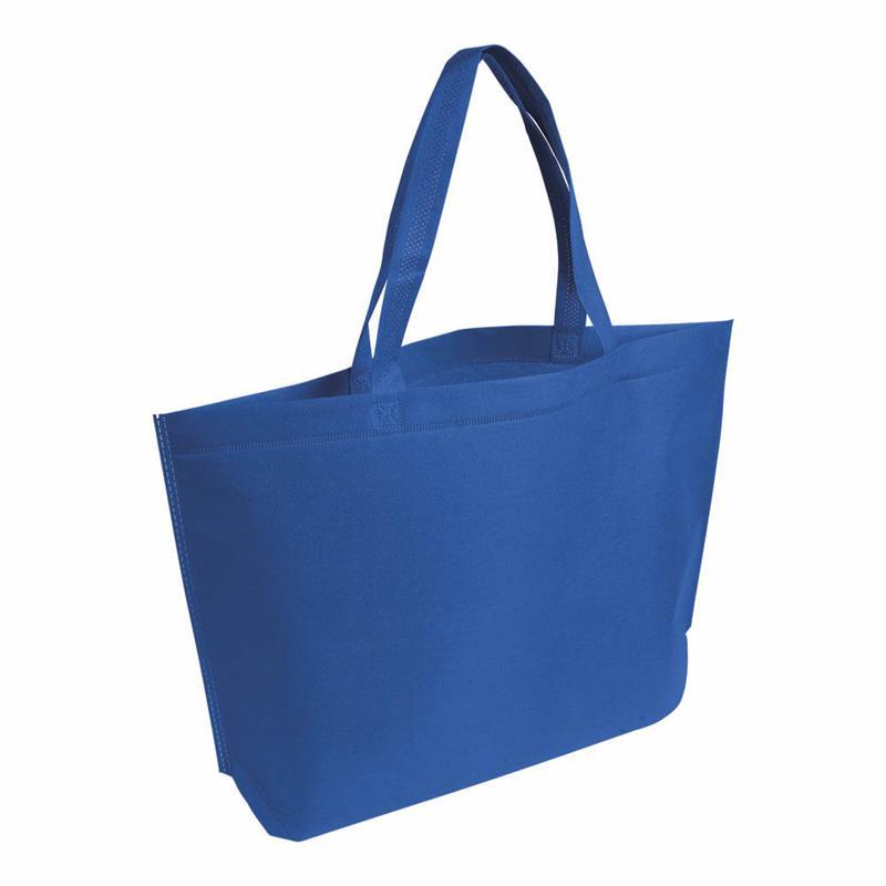 shopper in tnt blu royal termosaldato con soffietto alla base