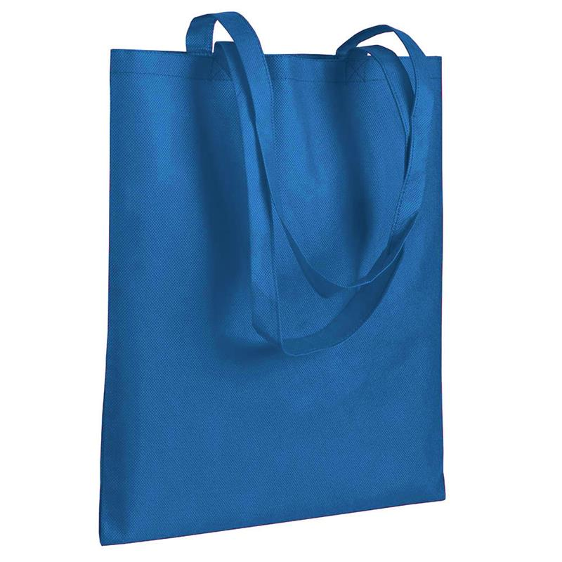 shopper in tnt blu royal senza soffietti manici tnt