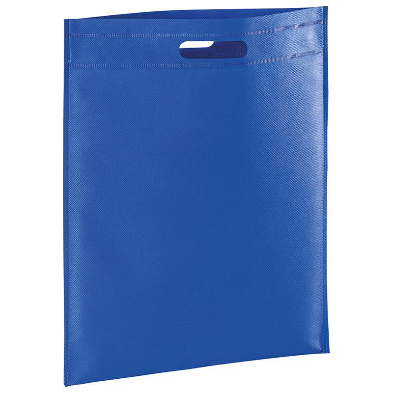 shopper in tnt blu royal con manico fagiolo