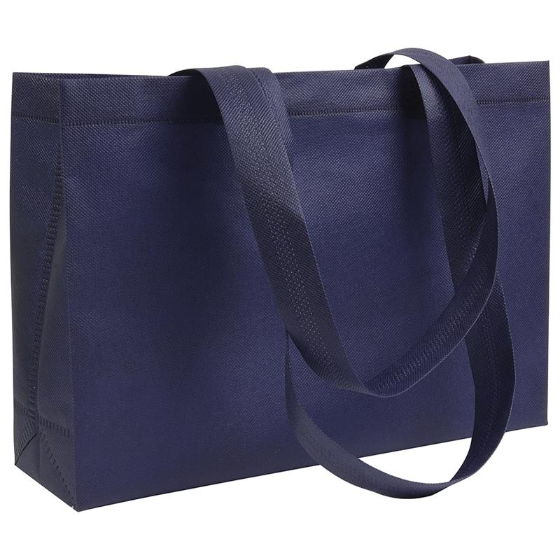 shopper in tnt blu navy con soffietti manici tnt termosaldati