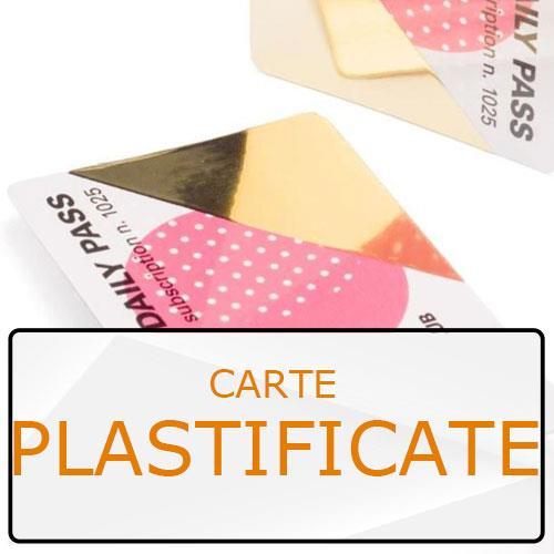 biglietti da visita in carta plastificata con angoli arrotondati