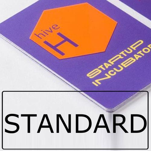 biglietti da visita in carta standard con angoli arrotondati