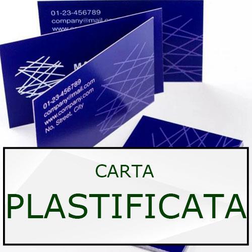 biglietti da visita in carta plastificata