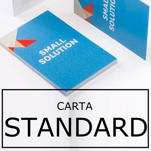 biglietti da visita in carta standard