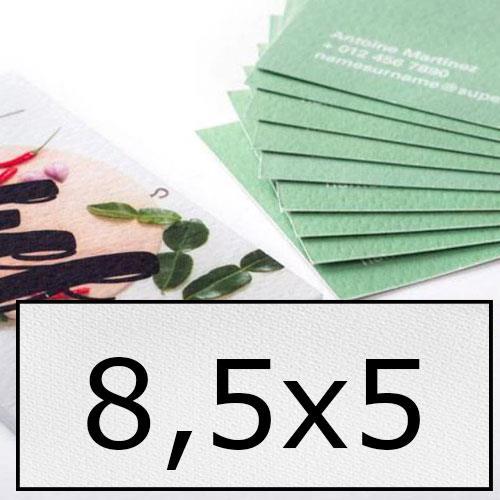 biglietti da visita in carta speciale 8,5x5