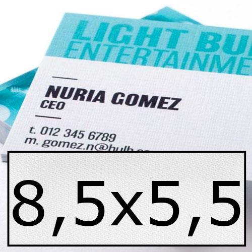 biglietti da visita in carta speciale 8,5x5,5