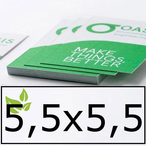 biglietti da visita in carta ecologica 5,5x5,5