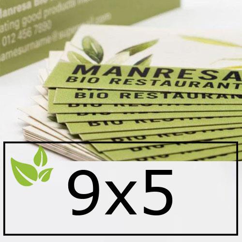 biglietti da visita in carta ecologica 9x5