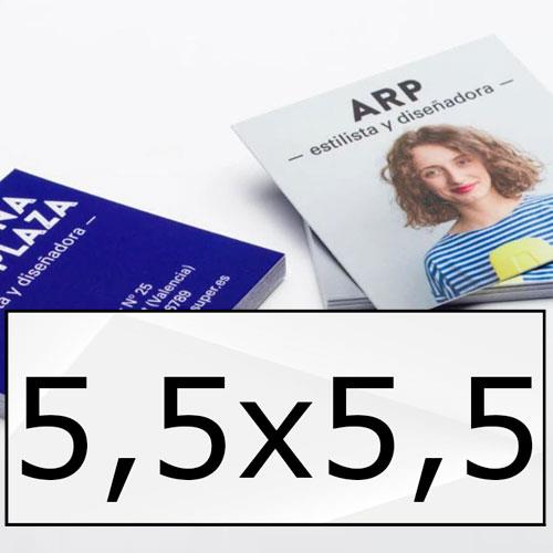 biglietti da visita plastificati cm 5,5x5,5