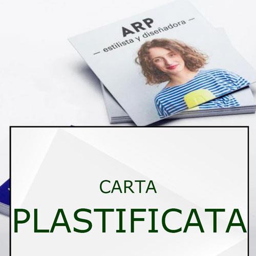 biglietti da visita quadrati plastificati