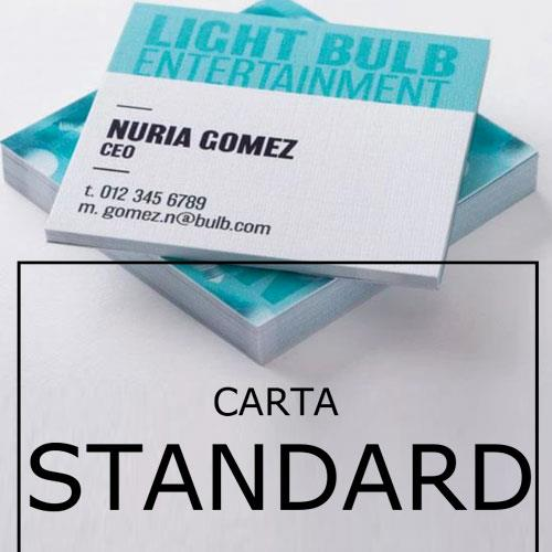 biglietti da visita quadrati in carta standard