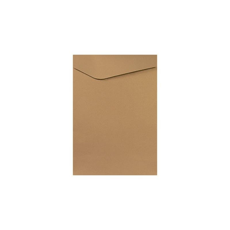 busta in carta riciclata avana senza goffratura pattella asimmetrica