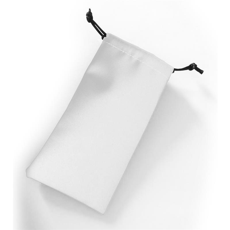 sacchettino in ecopelle bianco con chiusura a strozzo