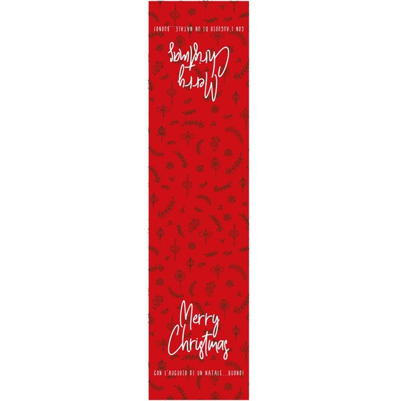 etichette chiudibusta natalizie rosse stampa merry christmas (50 pz.)