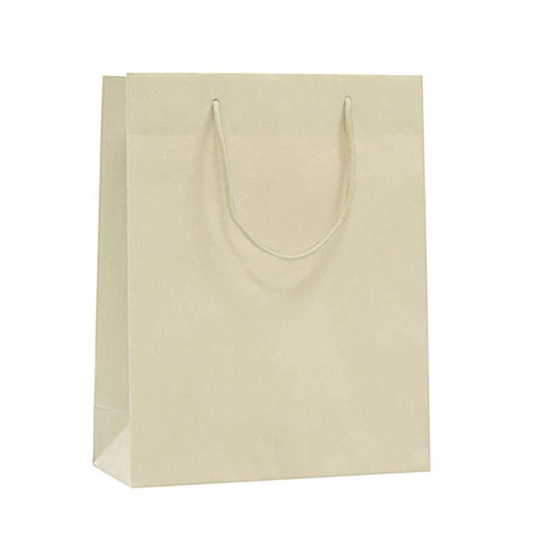 shopper in carta riciclata avorio manico cotone