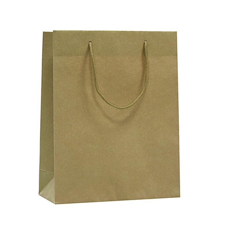 shopper in carta riciclata avana manico cotone
