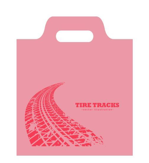shopper plastica rosa sagomata con maniglia a fagiolo