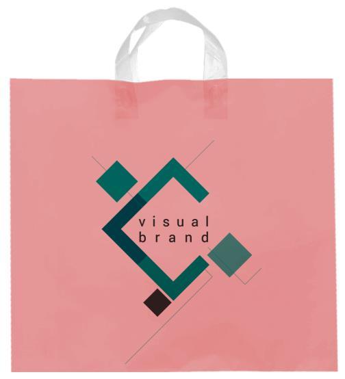 shopper plastica rosa con manico flexi senza soffietti laterali